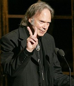 Neil Young. Still strong, still showing his colors
