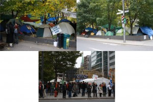 tents on downtown parks and lots