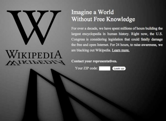 wikipedia sopa protest