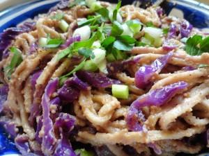 Soba Noodles in Thai Peanut Sauce