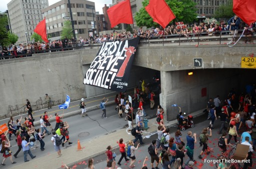 Montreal May 22 protest