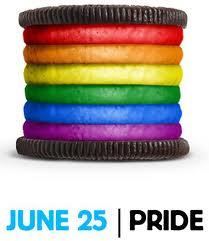 Pride Oreo cookie