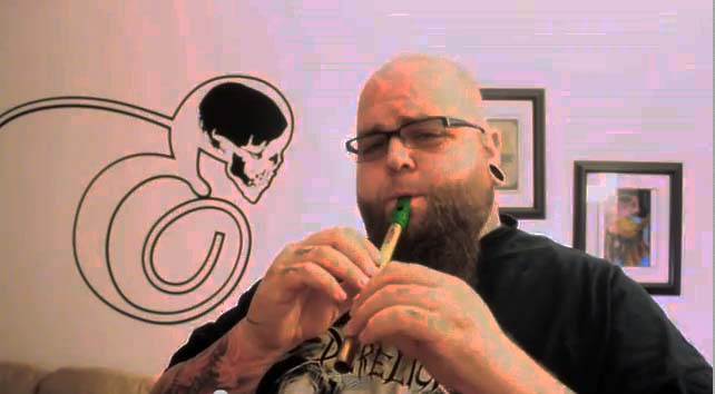 Big James Playing Flute