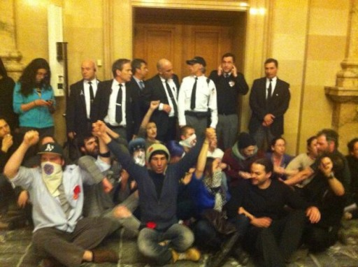 city hall sit-in