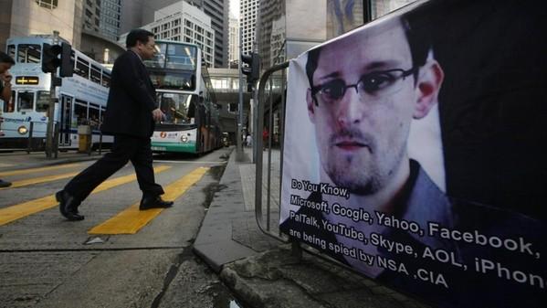 Edward Snowden banner hong kong