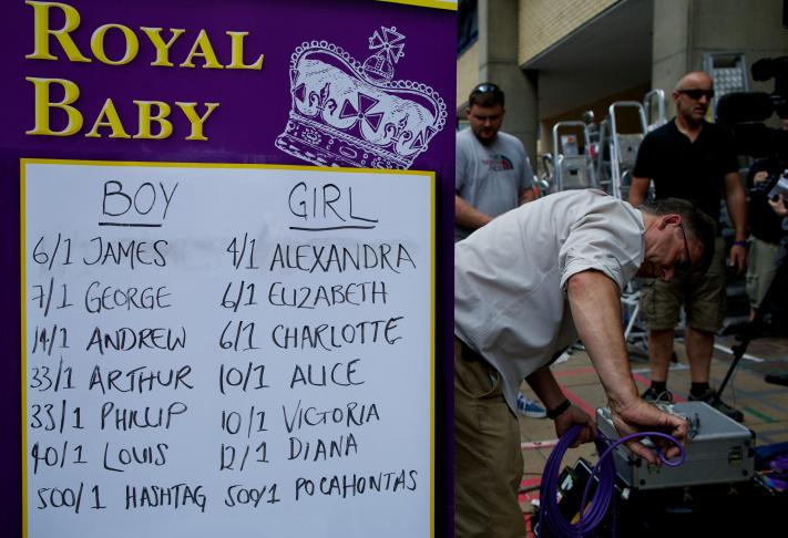 royal baby names placard