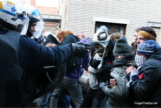 protest shot