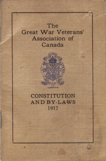 GWVA constitution 1917 1
