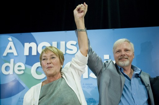 Pauline Marois and Jean-François Lisée (Canadian Press)