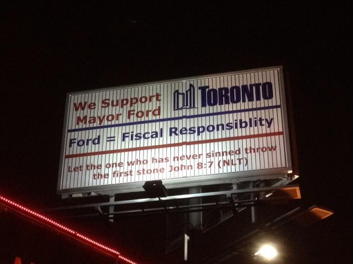 support rob ford billboard