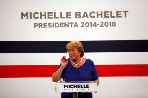 Michelle Bachelet during the most recent presidential election in Chile