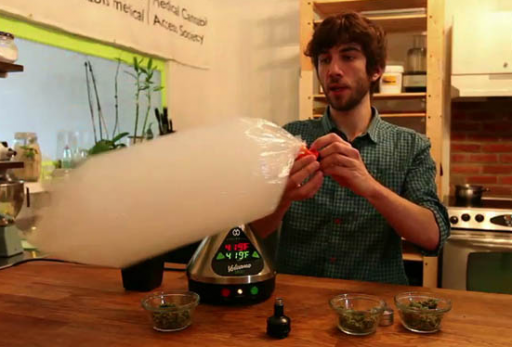 Adam Greenblatt during a demonstration (image cannabisculture.com)