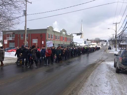 lac megantic protest 2
