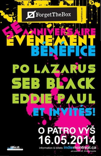 ftb 5th anniversary fundraiser poster