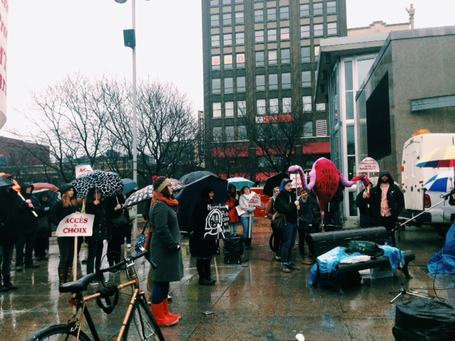 #nbprochoice rally in Montreal last month.