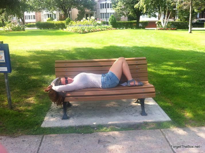 Lindsay Rockbrand park bench Hampstead Montreal