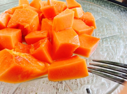Papaya with lime