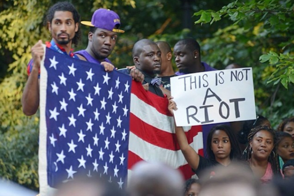 this is not a riot sign ferguson