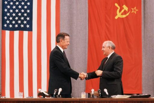 President Bush and President Gorbachev