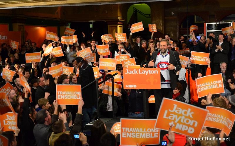 Thomas Mulcair NDP rally 2011