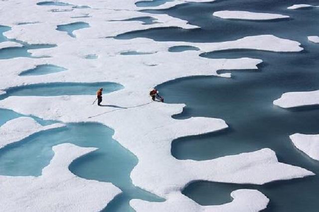 people fish in arctic
