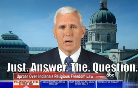 mike pence answer the question
