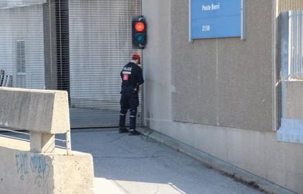 cop pissing in public