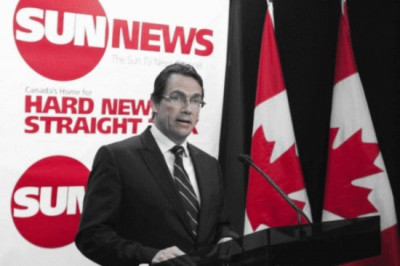 pkp sun news canadian flags