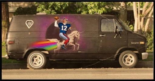 unicorn football van