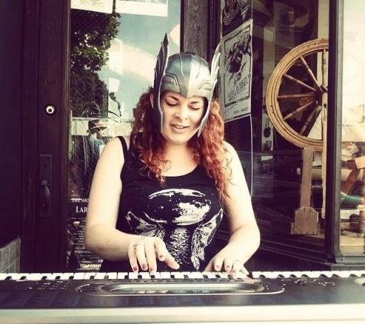 Erica Wolfling performing.