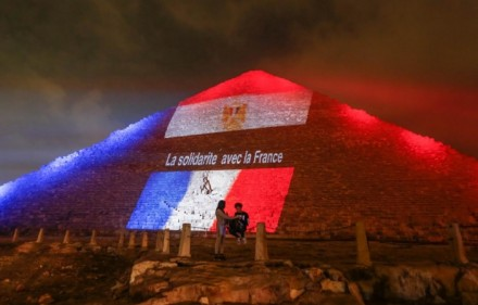 france vigil pyramid of giza egypt