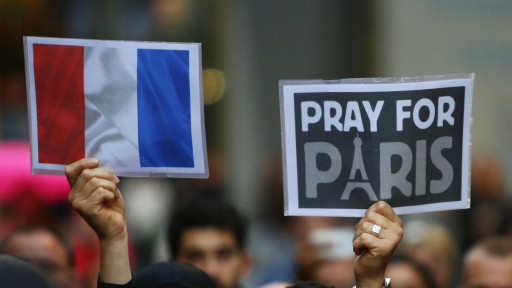 pray for paris french flag
