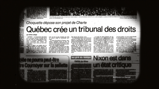 quebec charter of rights newspaper headline