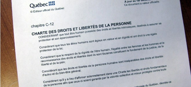 quebec charter of rights