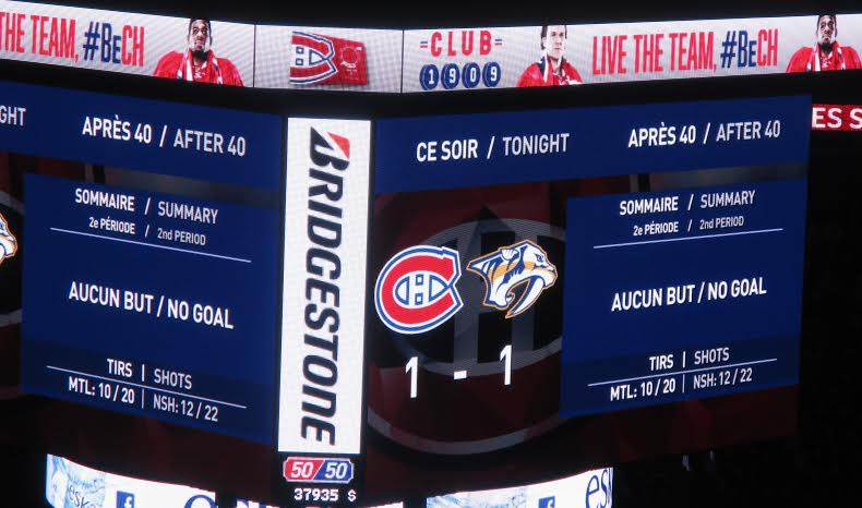 montreal canadiens tied game