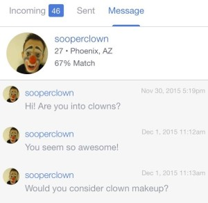ok cupid clown