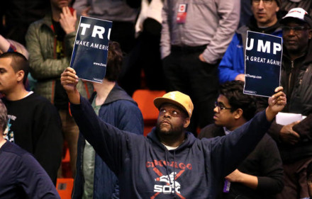 trump rally chicago protest