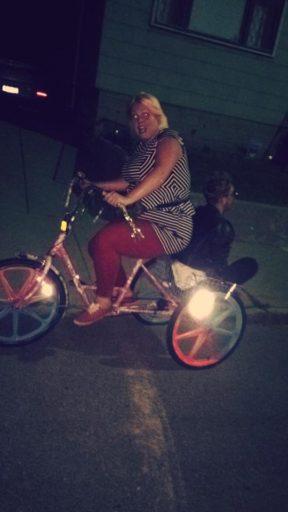 afraid cyclist