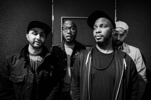 Fredua (Second from left) with Bad Rabbits