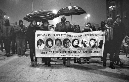 montreal police killings protest