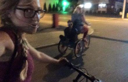 riding bikes at night