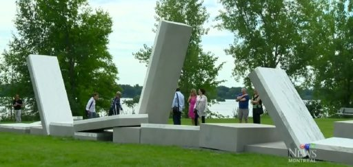 The Au Grand Dam installation in Parc des Rapides (screengrab from CTV Montreal)
