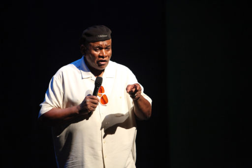 Host George Wallace (photo Felicia Michaels, courtesy Just for Laughs)