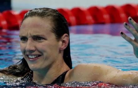 Katinka Hosszu, Hungarian swimmer and Olympic gold-medallist
